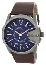Diesel DZ-1618 Blue Dial Brown Genuine Leather Strap Men's Watch