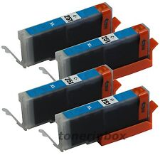 4 Pk CLI-251 CLI251 XL Cyan Ink For Canon Pixma MG5420 MG5520 MG6320 MX722 MX922