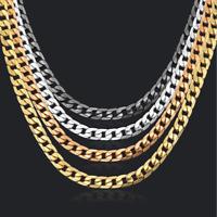 Gold Kette 60cm lang extra breit 10MM vergoldet für Herren Damen Halskette dick