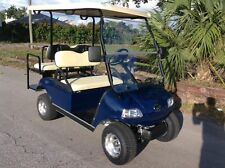 New 2020 Blue navy Evolution EV Golf Cart Car 4 Passenger seat 48v fast