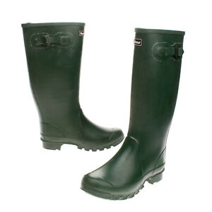 RRP €150 BARBOUR Rubber Wellington Boots Size 40-41 UK 7 US 9 Logo Made in U.K.