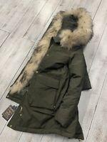 WOOLRICH Donna MILITARY PARKA VERDE jacket woman - ORIGINALE LIST. 1150,00 SALDI
