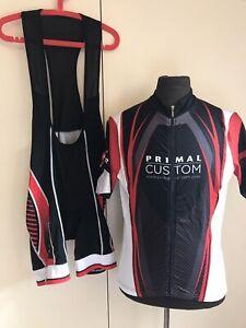 Primal Wear Cycling Bib Short & Jersey Kit Sz XL Prisma Bib Race Cut Shirt