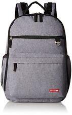Skip Hop Duo Stylish Diaper Backpack Modern Bag w/ Changing Pad (Heather Grey)