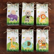 12x Animals Party Paper Candy Gift Box Dessert Bag Gifts Kids Jungle Party Decor