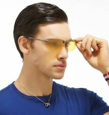 New Sport Wrap Hd Night Driving Polarized Sunglasses Yellow High Definition Usa