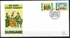 Suriname - 1986 Court charity centenary- Mi. 1183-84 Clean unaddressed FDC!