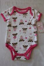 NEW Baby Girls 6 - 9 Months Bodysuit Creeper Outfit Infant 1 Piece Bears Dancing
