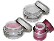 Fiberglas Aufbau-Gel Set klar+rosa NAIL1.EU 75ml/ UV Aufbaugel Gel Fiberglasgel