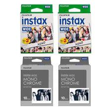 Plain & Monochrome FujiFilm Instax Wide Film Polaroid 60 Instant Photo Value Set