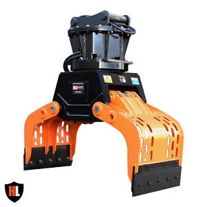 Hardlife - 16-22 Ton Hydraulic Excavator Rotating Selector Grapple - 150-RG-R