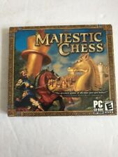 Video Game Computer PC CD Rom MAJESTIC CHESS Sealed Jewel Case Ships N 24h