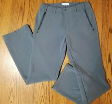 COLUMBIA Sportswear Omni Shade Grey Ski Pants Fleece Lined Zip Up Women Sz M