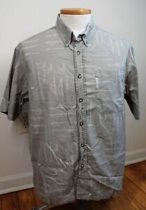 Columbia L Brown Cotton River Lodge Fishing Knot Short Sleeve Shirt