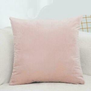 Simple Velvet Throw Cushion Cover Pillow Cover Pillowcase Home Sofa Car Decor L0