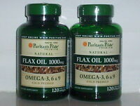 FLAX OIL 1000MG OMEGA 3 6 & 9 COLD PRESSED LINOLENIC ACID FLAXSEED 240 SOFTGELS