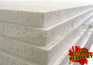 """12 x EXPANDED 1"""" POLYSTYRENE FOAM SHEETS 2400x1200x25mm"""