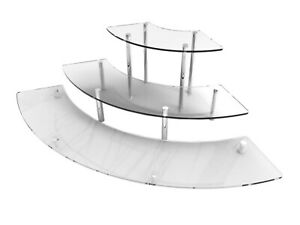 3 Tier Acrylic Countertop Cupcake Display Treats Stand Jewelery Organizer