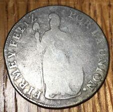 1836 Peru 4 reales AREQUIPPA AREQ silver Republic Peruana Almanzar