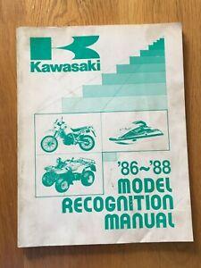 Kawasaki model recognition manual  1986 - 1988 ,   See below