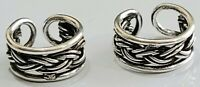 Ear Cuffs Braided Design 925 Sterling Silver You get 2 Pieces 1 Pair # 32