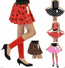 GIRLS POLKA DOT 50s TUTU SKIRT SCHOOL ROCK 'N' ROLL DANCE FANCY DRESS SKIRTS NEW