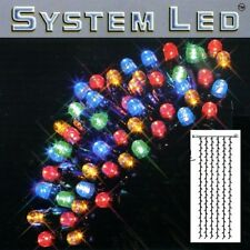 System LED Lichtervorhang extra 204er 1x4m bunt / schwarz 465-51-14