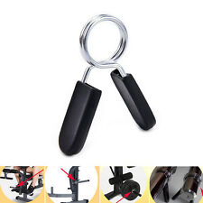 "1PCs 1"" Standard 25mm Spring Clamp Collar Clips For Weight Bar Dumbbells Gym WF"