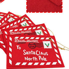6x Santa Claus Letter Envelope Card Christmas Tree Decorations Gift 12cmx8.2cm
