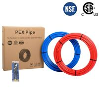 """Efield 2 Rolls 1/2"""" x 100Ft(200FT) PEX Pipe/Tubing Red &Blue Combo & Free Cutter"""