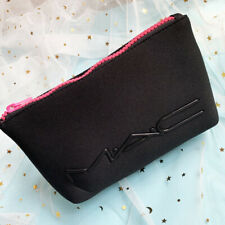 MAC Soft Foam Black Makeup Cosmetics Bag, Travel Toiletry Pouch, Brand New!
