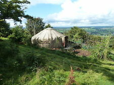 20' Yurt: 5* location & facilities off-grid short break holiday in East Cornwall