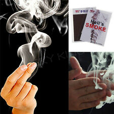 5X Close-Up Magic Change Gimmick Finger Smoke Hell's Smoke Fantasy Trick TO