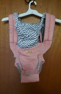Viedouce Ergonomic Baby Carrier w/Detachable Hip Seat Front Back Carry Pink Chev