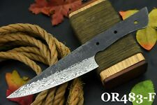"""10.8"""" Oal Hand Forged Hammered Damascus Steel Blank Blade Chef Knife Handmade(F)"""