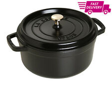 Staub Cast Iron Round Cocotte, 24Cm - Black