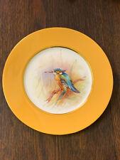 More details for vtg hand painted porcelain kingfisher display plate signed ross-royal worcester?