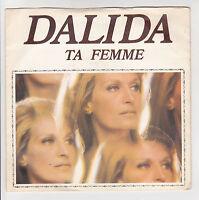 "DALIDA Disque 45 tours 7"" SP ANIMA MIA - TA FEMME - SONOPRESSE 45717 F Reduit"