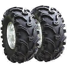 (2) Tire Wheel Rim Kit Rear Yamaha Grizzly 660 4X4 25X10-12 ATV 6 PLY NEW