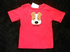 New Toddler Shirt Size 2-4T Red Puppy Dog T-Shirt by North American Bear