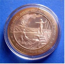 1779 John Paul Jones: Great Naval Victory - Solid Bronze Medal - Uncirculated