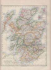 1921 MAP ~ SCOTLAND ~ ORKNEY SHETLAND ISLANDS ~ HEBRIDES PERTH INVERNESS ARGYLL