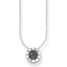 Genuine Thomas Sabo Sterling Silver Black CZ Classic Necklace RRP$179