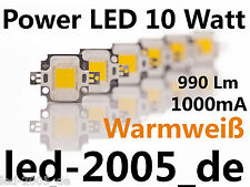 2 x Power LED 10 Watt Warmweiss 990 Lumen 1000mA,Power LED 10W Blanco Calido,