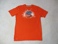 Nike Florida Gators Shirt Adult Large Orange Blue UF Basketball Dri Fit Mens *