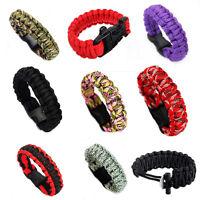 Survival Bracelet Paracord Gear Flint Scraper Kits Fashion CH
