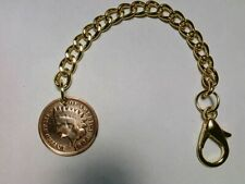 Pocket watch chain/Key chain with Indian Head Penny fob