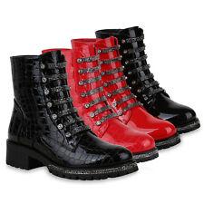 Damen Klassische Stiefeletten Boots Warm Gefütterte Stiefel Lack 825570 Schuhe