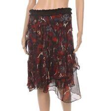 Knee Length Acrylic Regular Size Skirts for Women