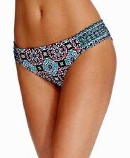 Kenneth Cole Reaction Side-Tab Bikini Bottom Black-Multi Size Small